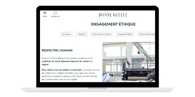 Engagement étique de Bonne Gueule, DNVB française